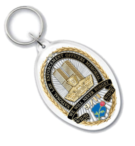 """NLEOMM """"We Will Never Forget"""" 9/11  Key Chain"""